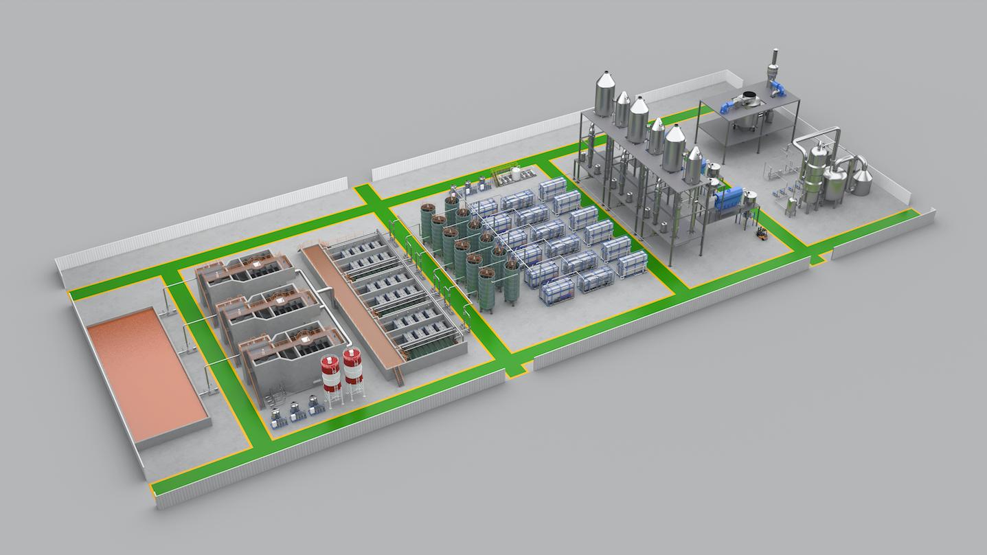 污水处理设备3d动画